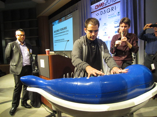 Aaron Parecki plays the Hydraulophone at AWE '13