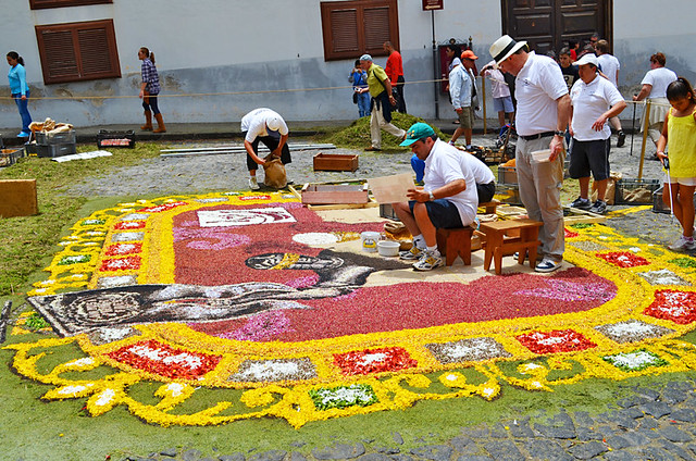 Alfombristas, Corpus Christi, Flower Carpets, La Orotava, Tenerife
