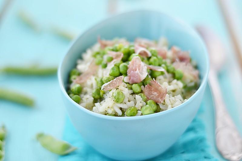 green pea risotto.9