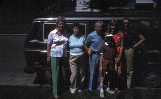 New York   -   Sayville    -   Saying goodbye to Charlie & Melita and for having us before we leave for Germany    -    July 1985