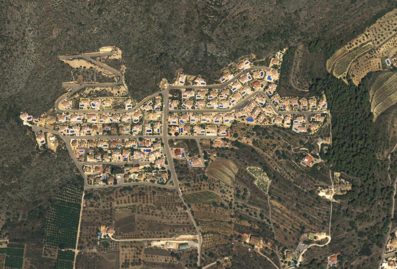 después, urbanismo, foto aérea,desastre, urbanístico, planeamiento, urbano, construcción, Urbanización Valle Paraíso, Xaló, Jalón, Alacanta, chalets, chalet, Alicante