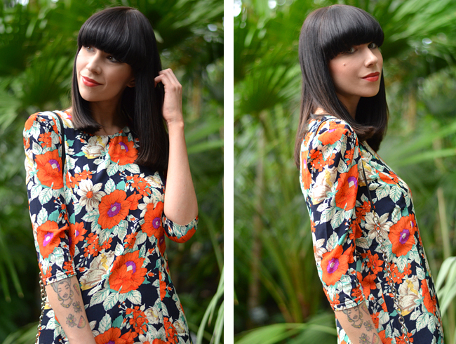 Palm trees floral dress blog 16
