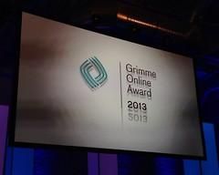 Grimme Online Award 2013 #goa13