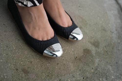 cap toe flats