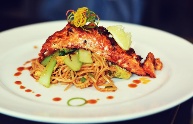 [089] - Norvegian Salmon with Tossed Ramen @AoiMumbai