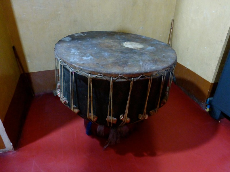 Durgadi Fort - Large drum in the Durga temple