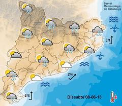 Mapa exemple de predicció meteorològica