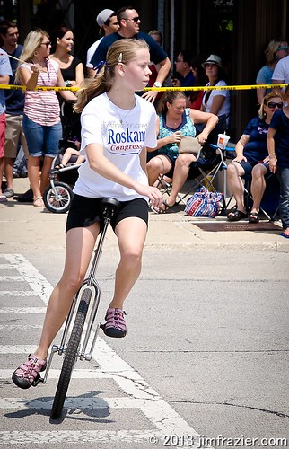 If I were in his district, I'd vote for Roskam just because he had a girl on a unicycle! by Jim Frazier
