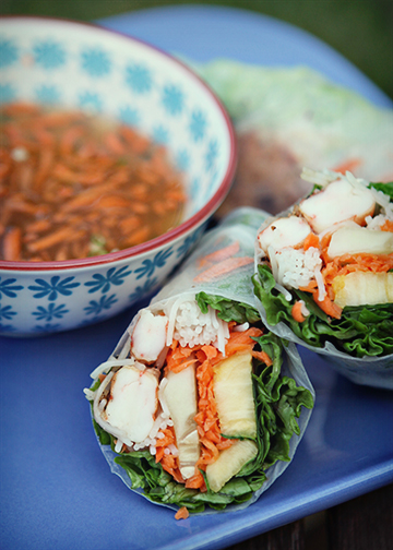 Spring Rolls from Art of Sweet Tea blog