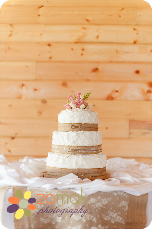 Beautiful and simple wedding cake