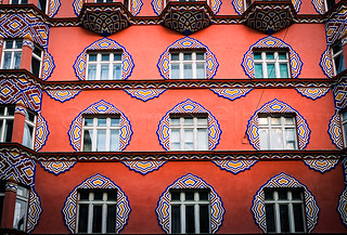 People's Loan Bank Building in Art Nouveau style, Ljubljana, Slovenia, Europe