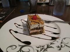 Dinner, dessert: tiramisu