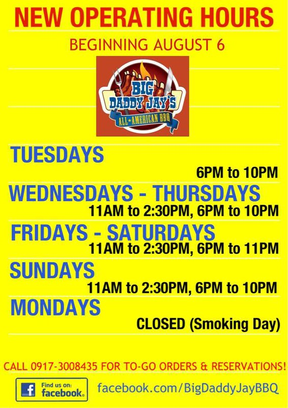Big Daddy Jay's All-American BBQ Schedule