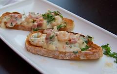 Tapas - Ham, Shrimps and Garlic Sauce