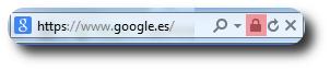 Candado en Internet Explorer