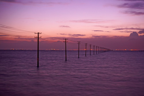 utility poles into the sea 25