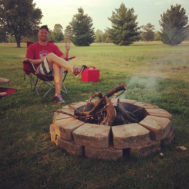 Saying goodbye to summer with a homemade fire pit.  #labordayweekend #family #xtown