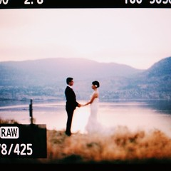 #vscocam pre- #wedding shoot in #penticton #lake #sunset
