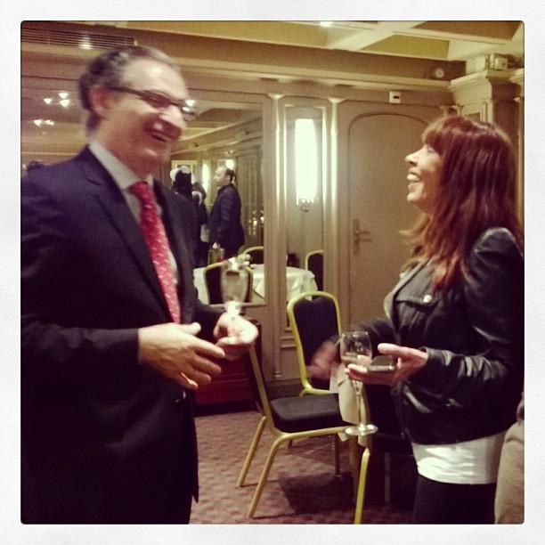 Moment de rire entre @tfsalomon & le directeur du @lutetia JL Cousty #girlpower3