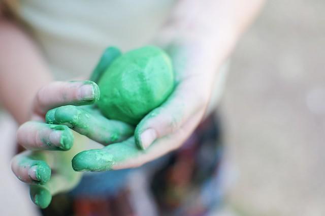 green play dough