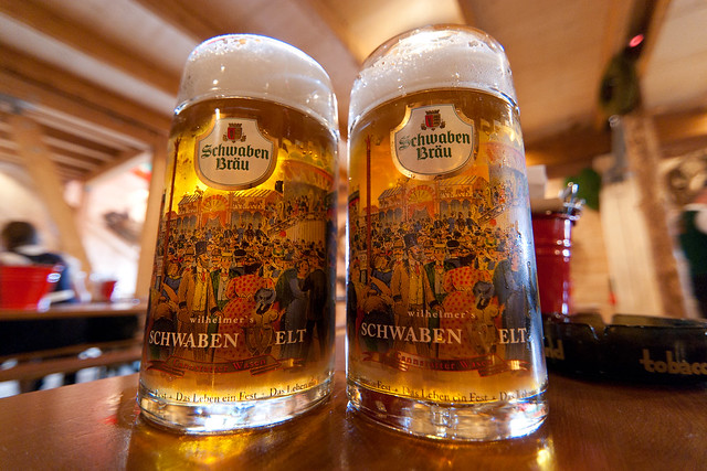 Beer steins at Oktoberfest © Len Dog