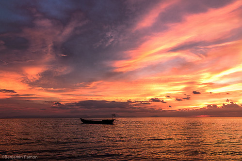 sunset red sea canon boat asia cambodge f56 laos