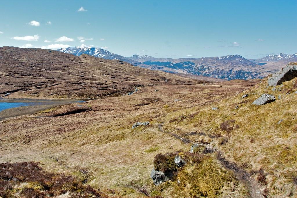 The path above Lochan Beinn Chabhair