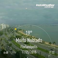 Bom dia Florianópolis! ☺  #florianópolis #floripa #sc #outono #majestic #hotelmajestic #loveyourjob #lovemyjob #paixão #praia #mar #paisagem @instaweatherpro #instaweather #instaweatherpro #weather #wx #android #temperatura #calor #frio