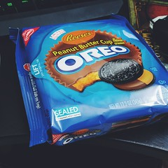 Oh shit... Look what I found! It's fucking on! Oreos Reese's? Fuck yeah. #oreo #reeses #vscocam
