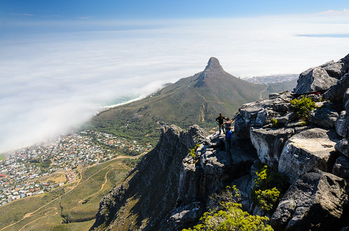 Abseiling on Table Mountain, Cape Town, South Africa