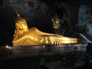 Reclining Buda cave temple