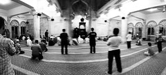 Inside Mosque before Maghrib Praying