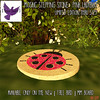[ free bird ] MM Board - Limited Edition Mosaic Stepping Stone - Pink Ladybug