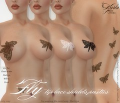 !!! Karla Boutique !!! Fly Top lace shields pasties