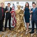 gold bodypainting human statue  statue of liberty gold by humanstatuebodyart