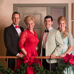 I'll Be Home for Christmas - Arvada Center 2016 - Pictured L-R: Noah Racey (Dana Bright), Megan Van De Hey (Louise Bright), Jake Mendes (Simon Bright) and Kim McClay (Maggie Bright). Photo: M. Gale Photography 2016