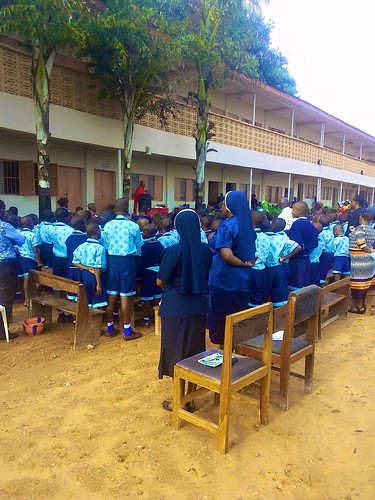 The term opening Mass is celebrated at St Louis Nursery and Primary School, Bida