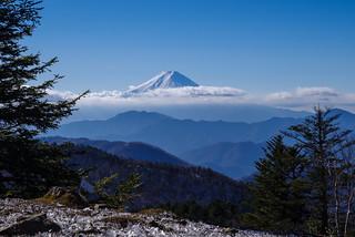 富士山@牛奥ノ雁ヶ腹摺山