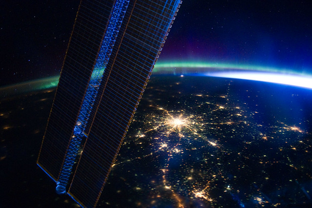 Moscow at Night (NASA, International Space Station, 03/28/12)