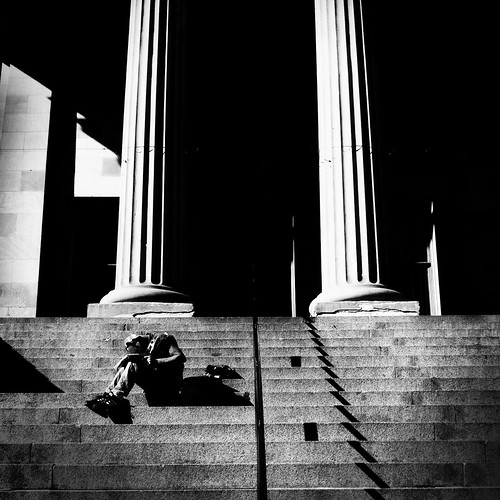 The Dude on the Steps