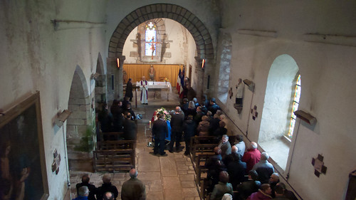 France, funeral service in church