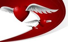 corazon rojo con alas