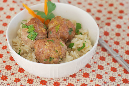 Asian Turkey Meatballs with Sesame Lime Dipping Sauce - Fake Ginger