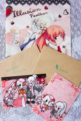 豪華的膠folder 是由大幹部贊助, 賀卡x2 則是紳士ちゃん的祝福~