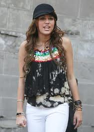 Miley Cyrus Tie Dye Top Celebrity Style Women's Fashion