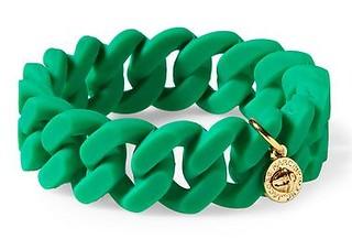 Rubber Turnlock Bracelet Green