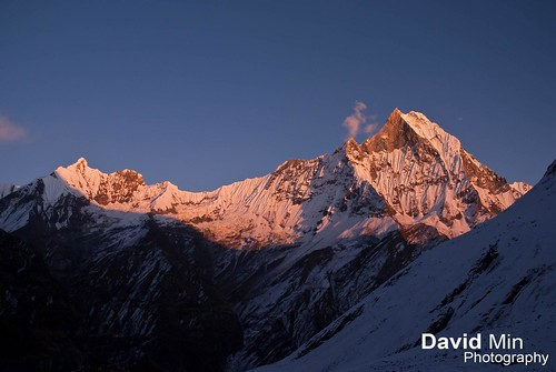 Annapurna, Nepal - Mount Machapuchare @Sunset by GlobeTrotter 2000