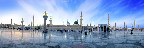 sunset sky color colour green mix islam mosque holly mohammed madina syria mixing scape damascus saudiarabia prophet mohammad shuterspeed munawara abdulhameedshamandour