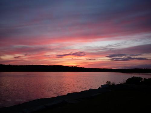 sunset in Shelburne