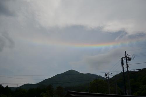 栗山でもめずらしい虹がこんにちは 環水平アーク